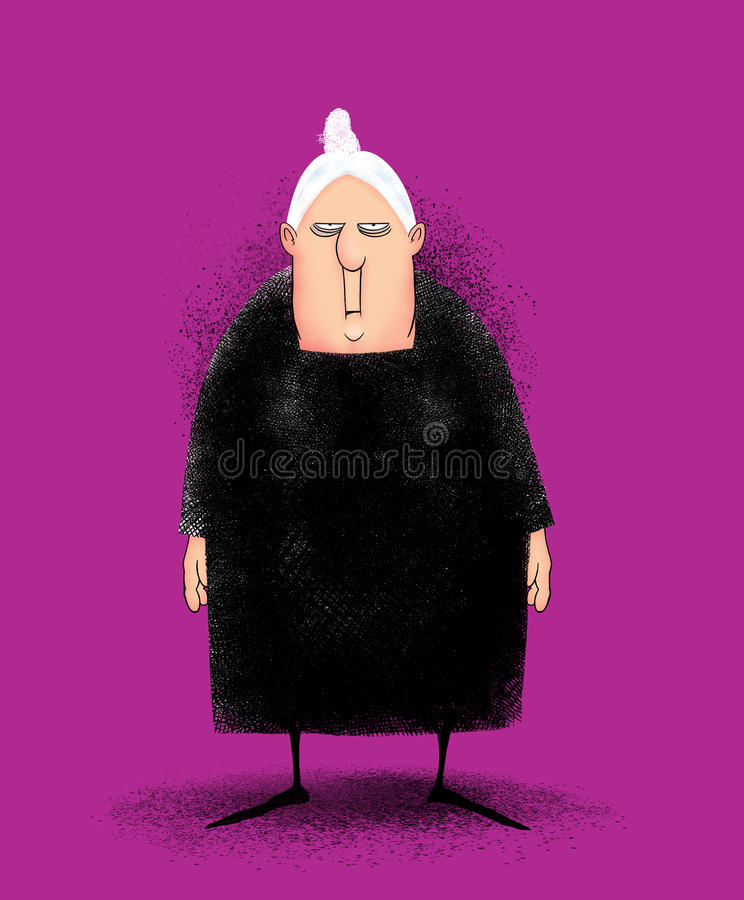 Download Angry Old Lady stock illustration. Image of eyes, septuagenarian - 33543190