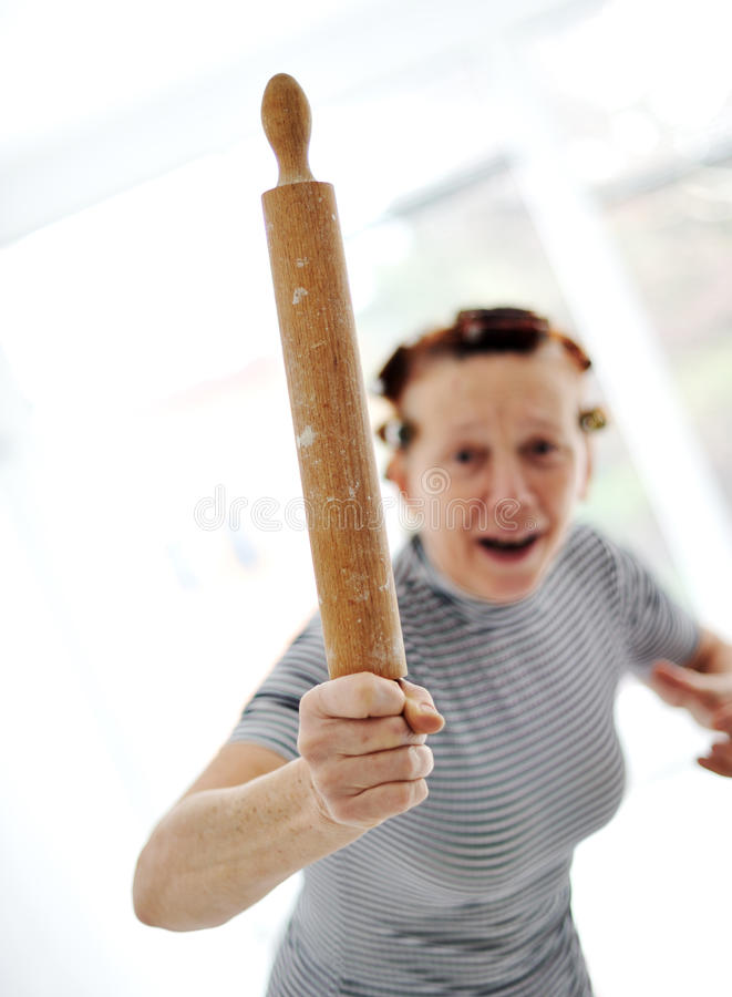 Angry older woman