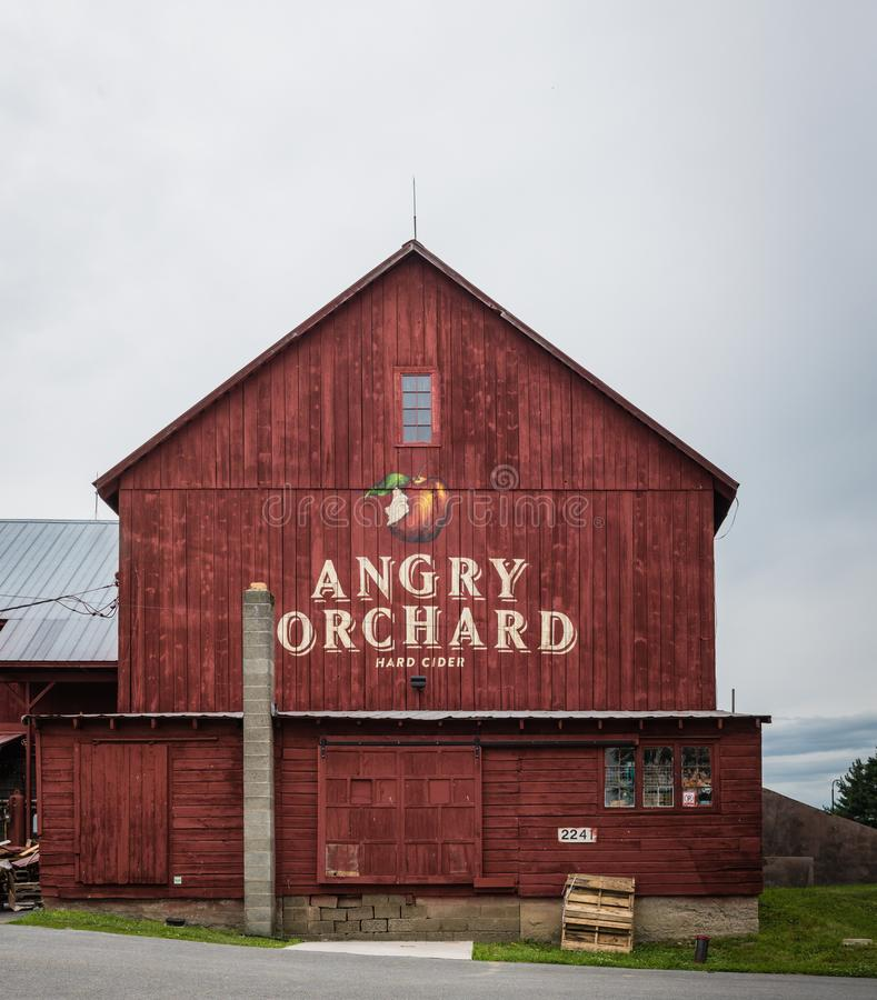 Angry Orchard Red Barn - Pine Bush NY stock images
