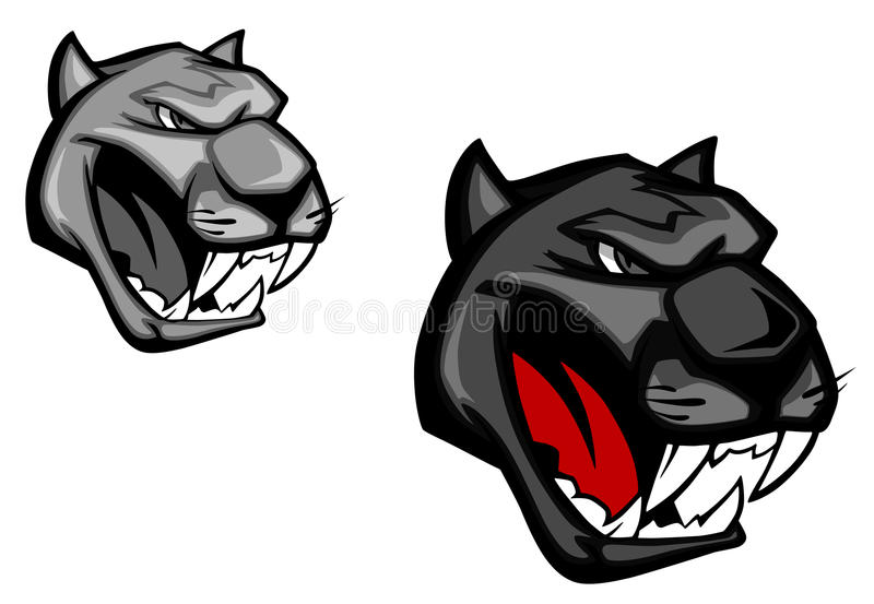 Angry panther stock illustration