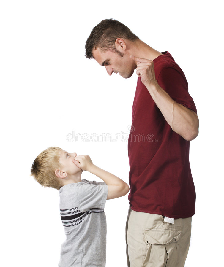 Angry parent stock photos