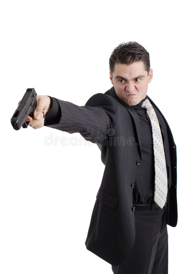 Angry Person With A Gun Stock Photos