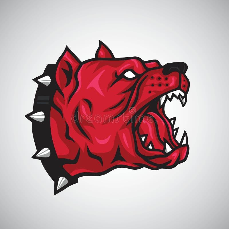 Angry Pitbull Logo Design Vector. Template stock illustration