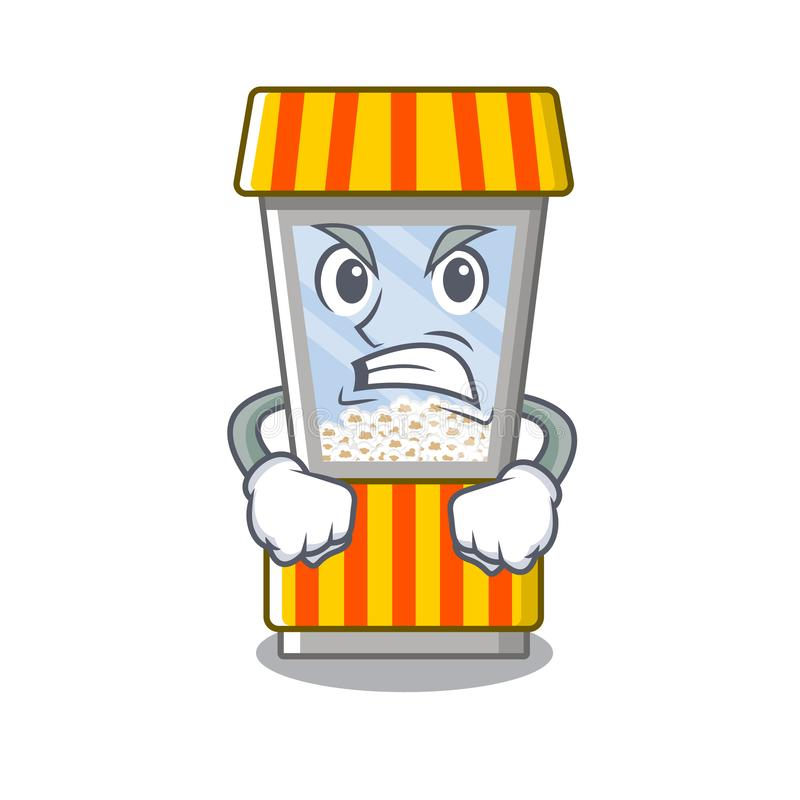 Angry popcorn vending machine is formed cartoon. Illustration vector stock illustration
