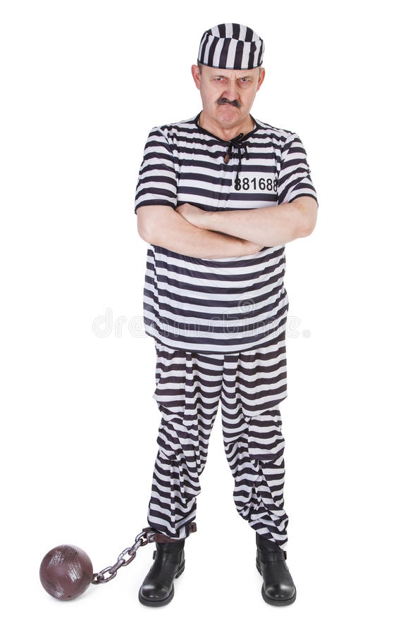 Angry Prisoner Royalty Free Stock Image
