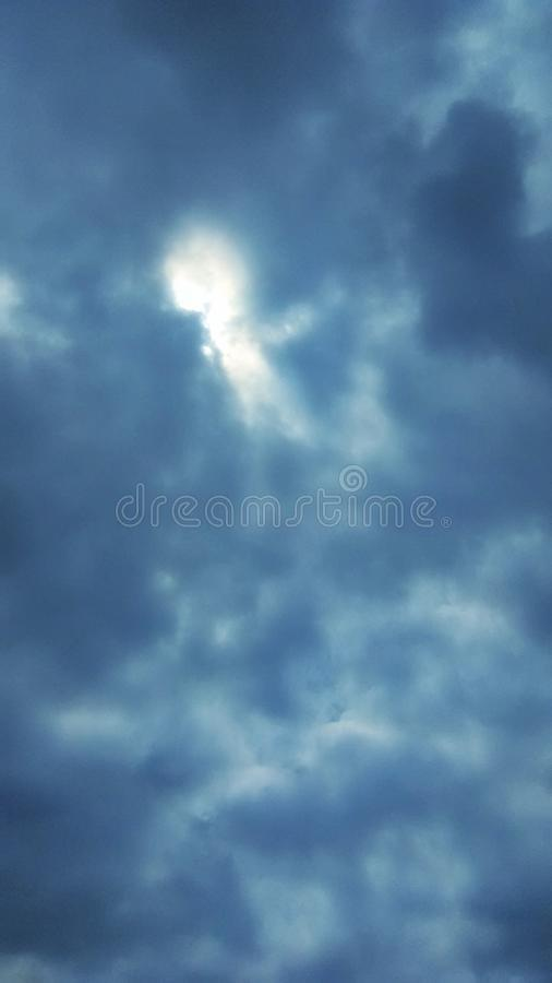 Key hole in the clouds to heaven in Missouri royalty free stock photos