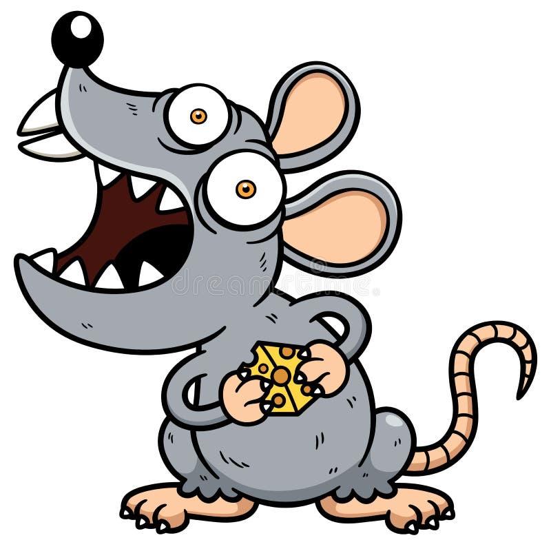 Angry rat stock illustration