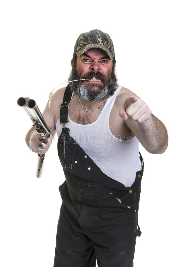Angry Redneck stock image. Image of redneck, anger, barrel - 50720463