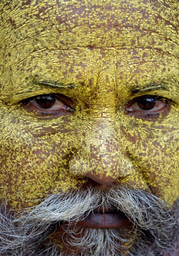 Angry Sadhu Monk stock images