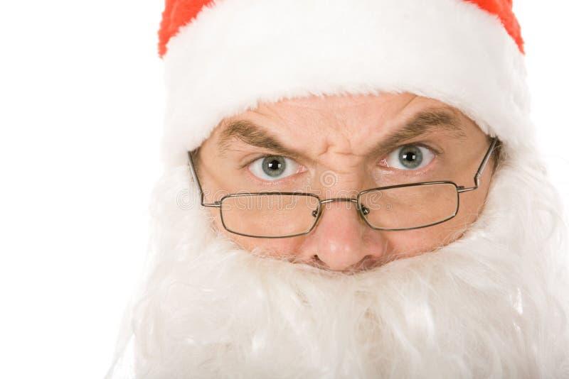 Angry santa claus royalty free stock image