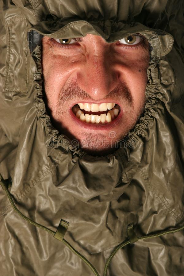Angry scary man stock photo
