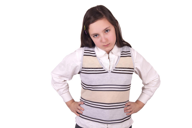 Download Angry school girl stock image. Image of young, school - 31425091