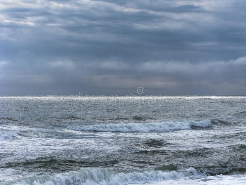 Angry Sea on the Outer Banks of North Carolina stock photos