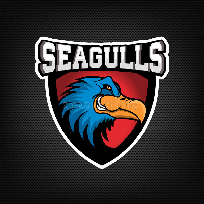 Free Angry Seagull Head On Dark Background. Sport Team Or Club Emble Royalty Free Stock Images - 75736029