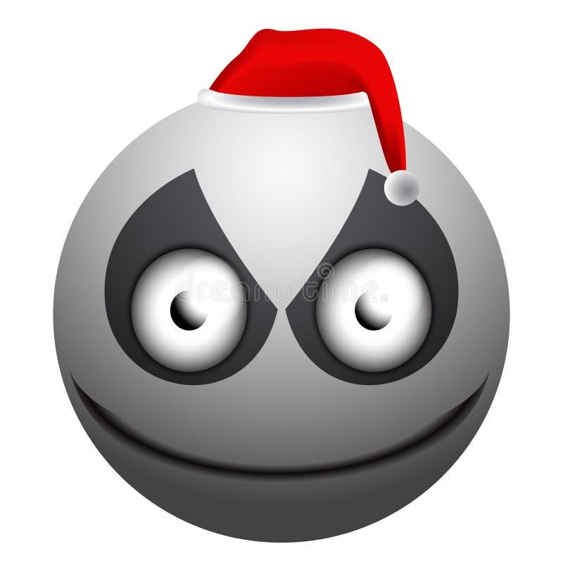 Angry snowman emoji vector illustration