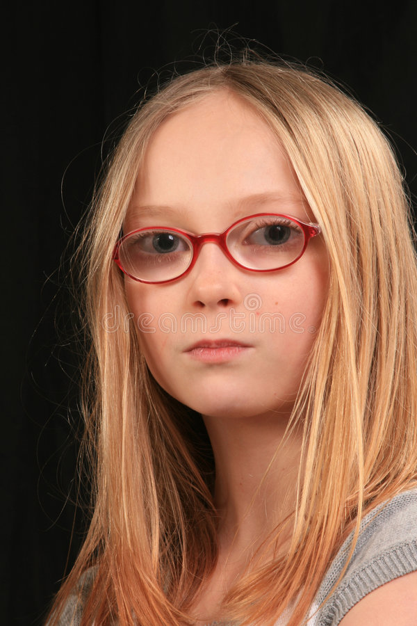 Download Angry teen girl 2 stock image. Image of glasses, expression - 8357961