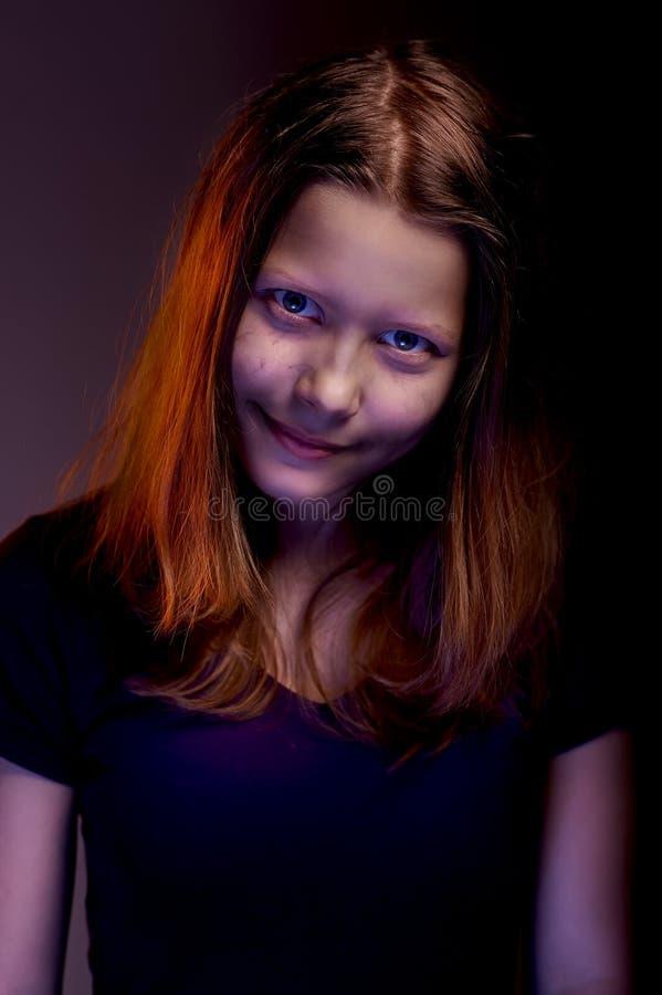 Angry teen girl stock image