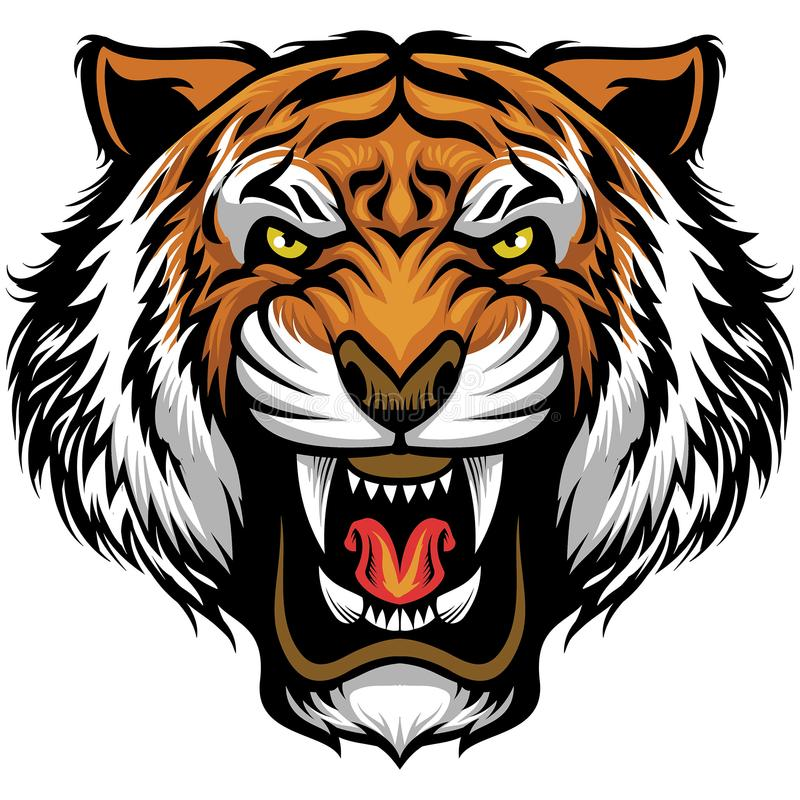 Free Angry Tiger Face Royalty Free Stock Photography - 103105197
