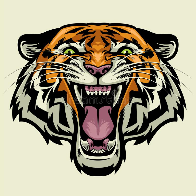 Free Angry Tiger Head Royalty Free Stock Images - 113906299