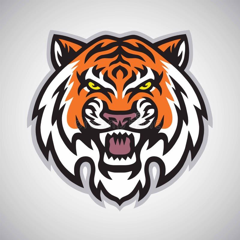 Free Angry Tiger Head Logo Vector Mascot Illustration Stock Image - 144659271