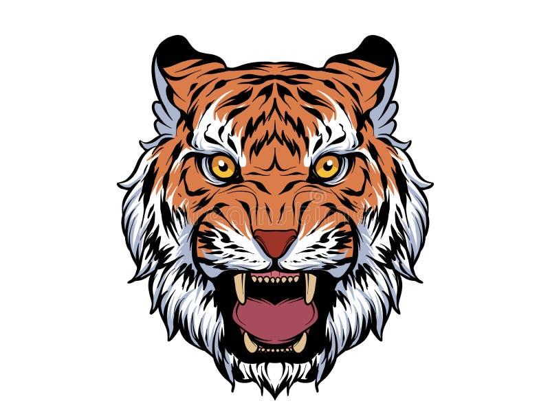 Angry tiger illustration royalty free illustration