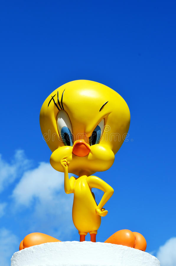 Tweety pie Warner bros figure royalty free stock image