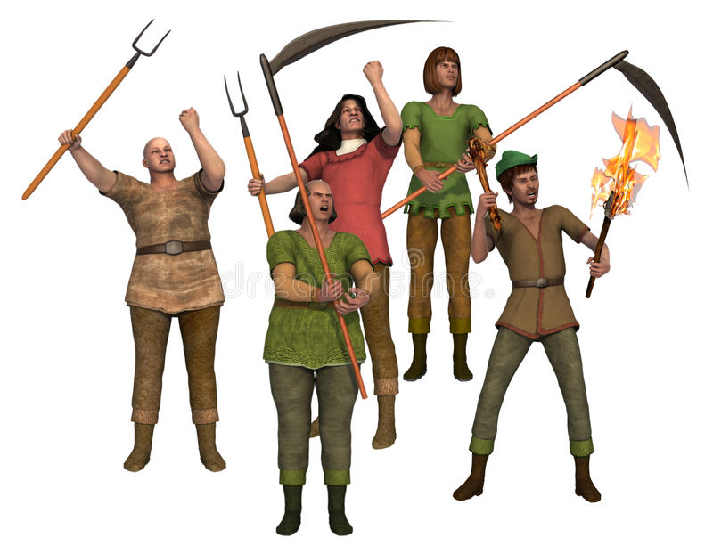 Download Angry Villagers With Pitchforks Stock Image - Image: 26892923