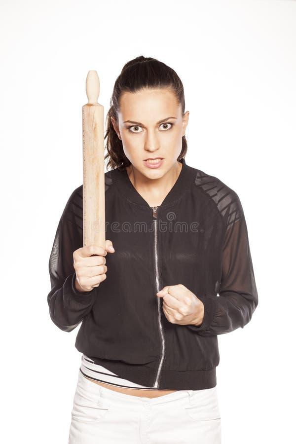 Angry wife stock image
