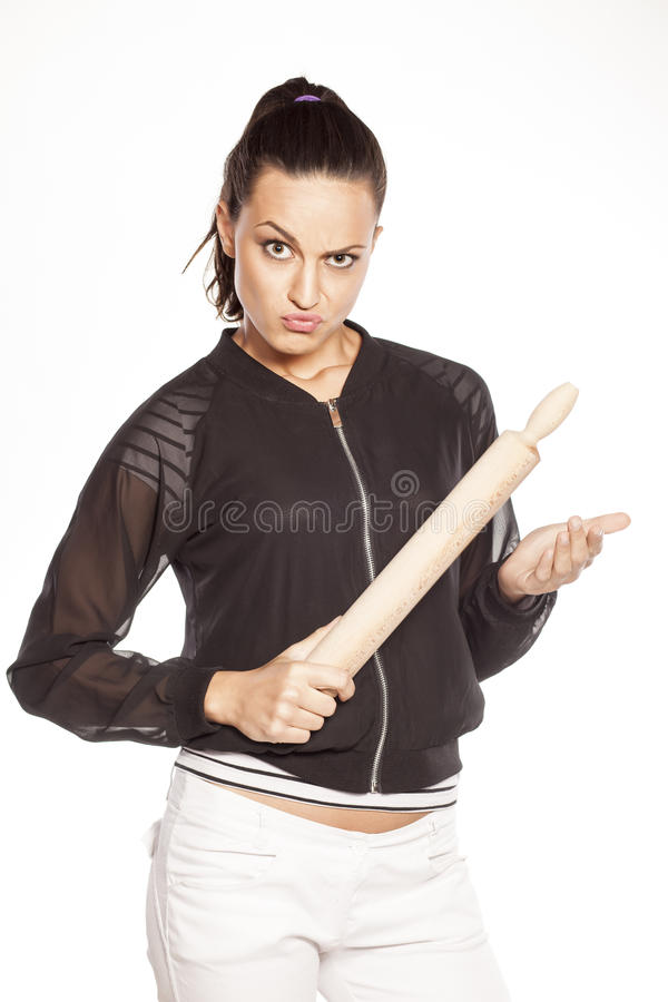 Angry wife stock images
