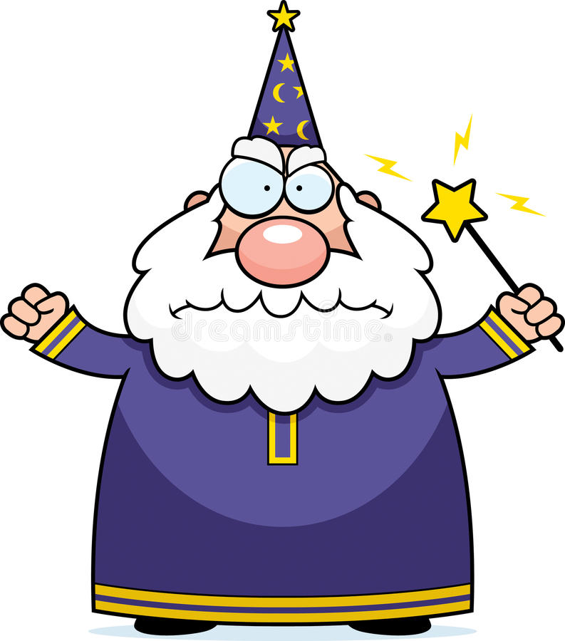 Angry Wizard vector illustration