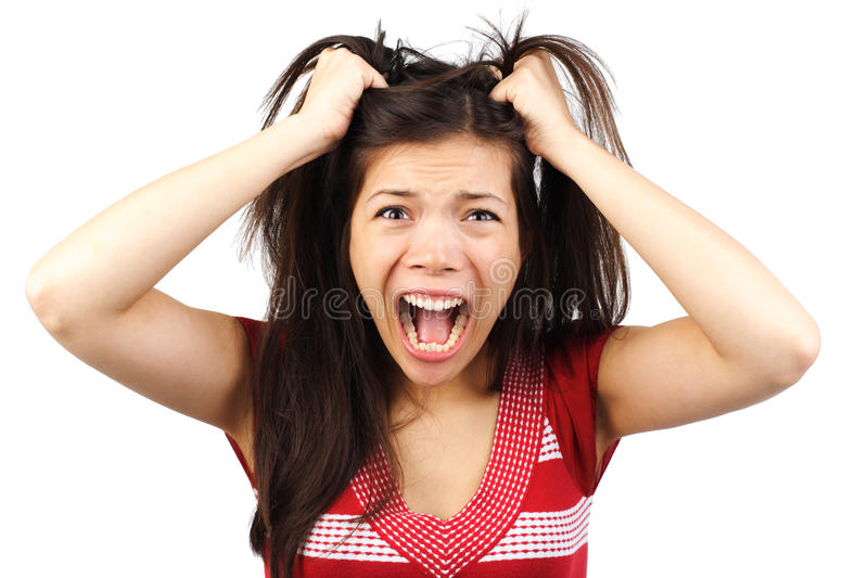 Angry woman royalty free stock photography