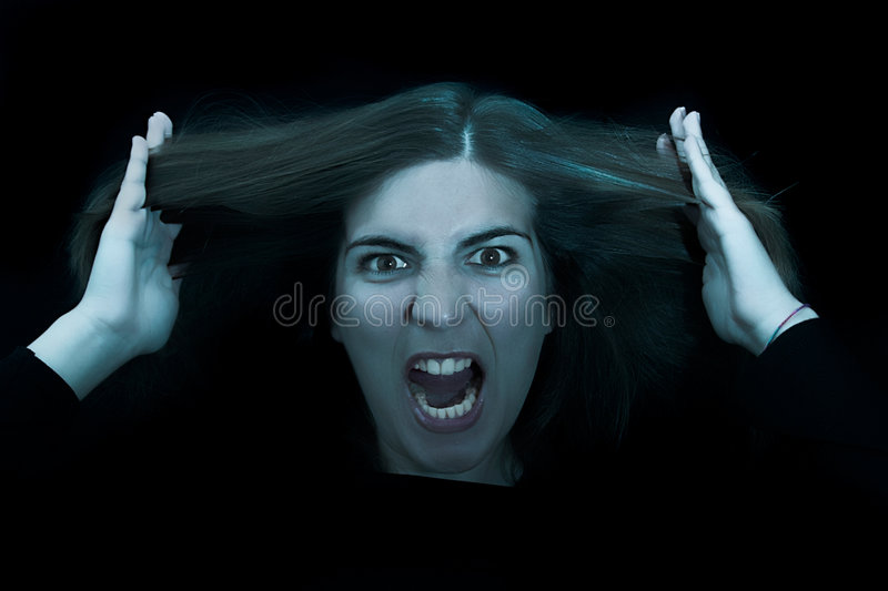 Download Angry woman stock photo. Image of color, pose, mouth, look - 1413702