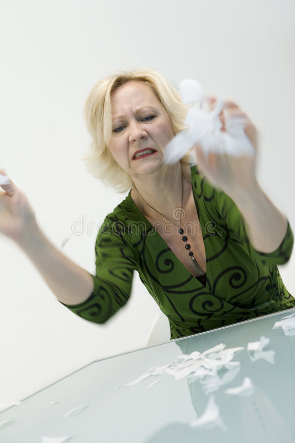 Download Angry Woman stock photo. Image of rage, executive, bits - 5620938