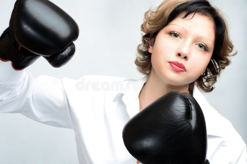 Download Angry woman stock image. Image of anger, punching, aggression - 8839741