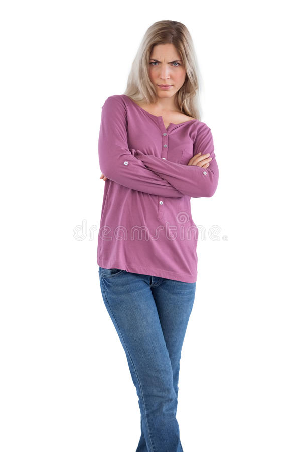 Download Angry Woman With Arms Crossed Stock Photo - Image of posing, background: 32511658