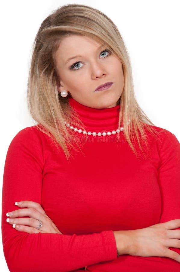 Angry Woman stock photography