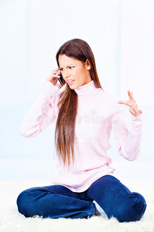 Download Angry Woman On Phone Royalty Free Stock Photo - Image: 26088165