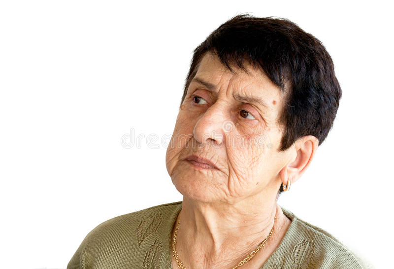 Angry Woman Portrait stock photography