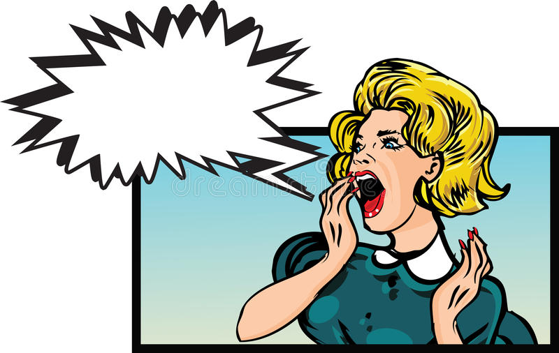 angry woman stock illustration illustration of 1950s 51456115 rh dreamstime com