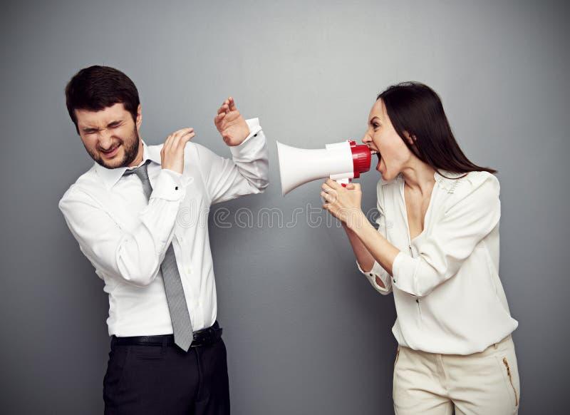 Angry Woman Shouting At The Man Royalty Free Stock Photo
