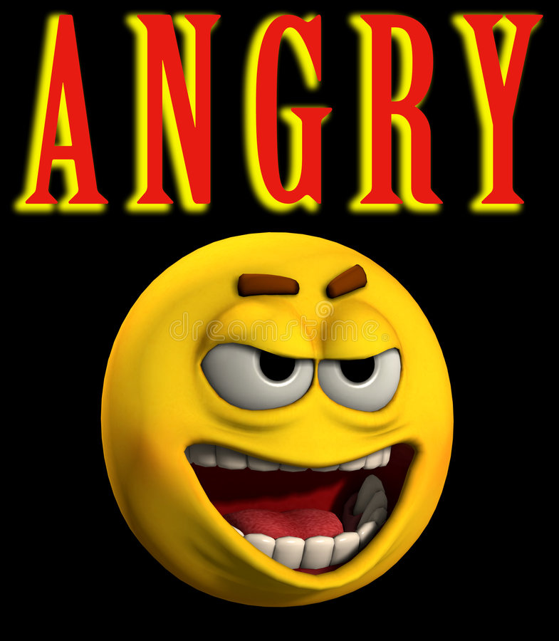 Angry Word 4 royalty free illustration