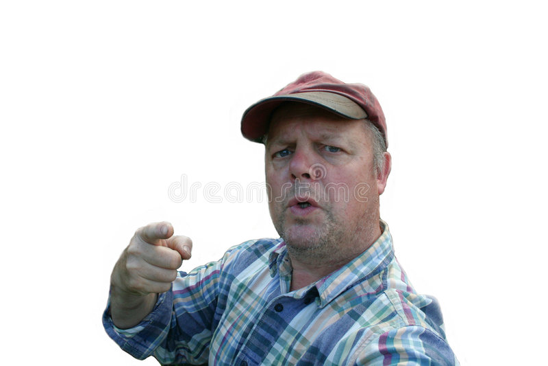 Angry workman