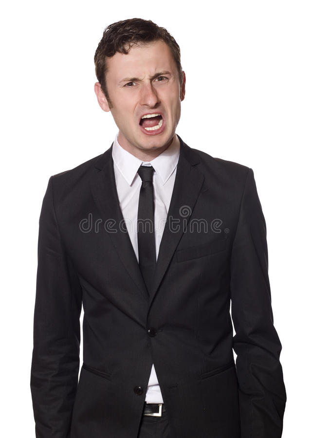 Download Angry yelling businessman stock image. Image of frustrated - 10556407