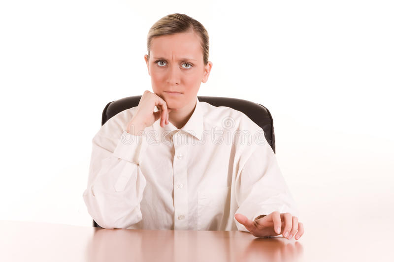 Angry Young Businesswoman Stock Image