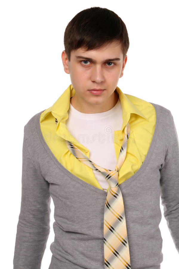 Angry young man. royalty free stock photos