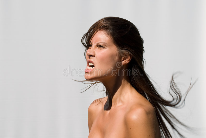 Download Angry young woman stock image. Image of angry, hair, upset - 6578877
