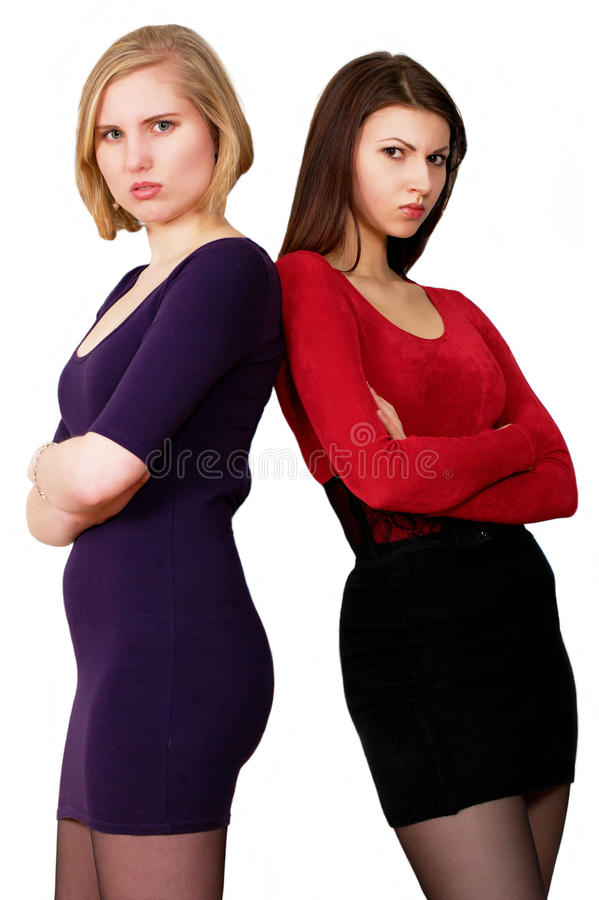 Angry young women stock image