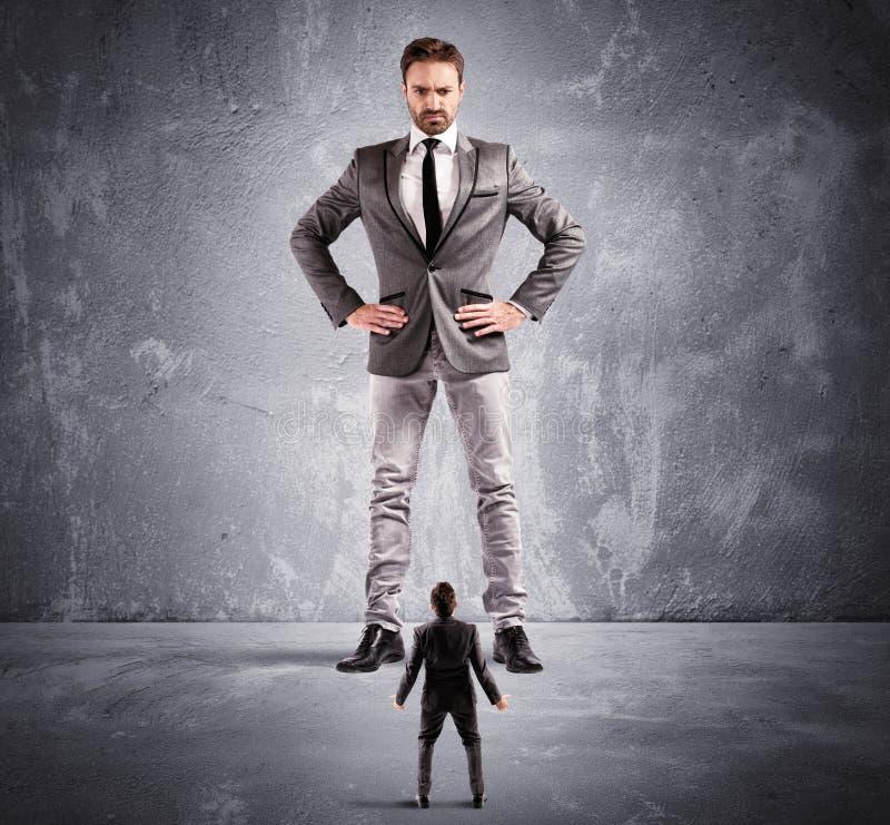 Angst aangejaagd door de werkgever stock foto's