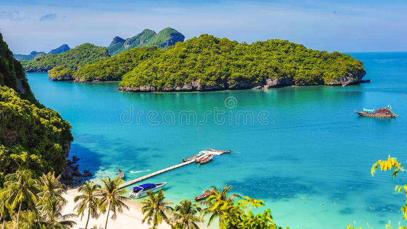 Angthong national marine park, koh Samui, Suratthani, Thailand. Asia royalty free stock image