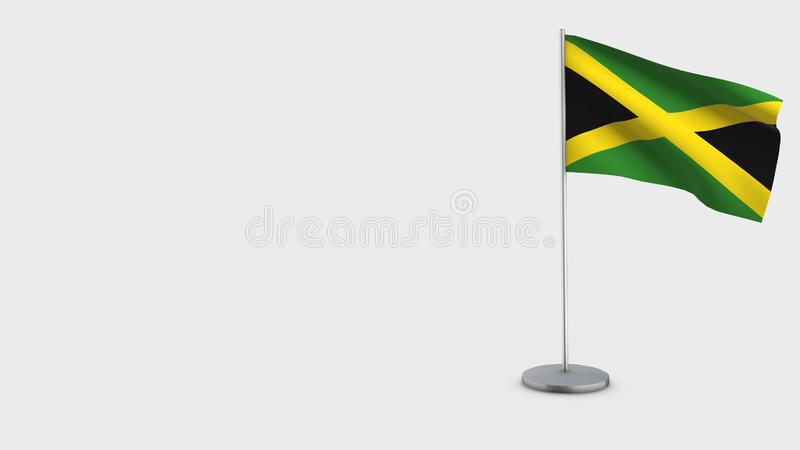 Jamaica 3D waving flag illustration. royalty free illustration